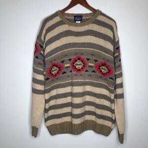 Vintage Woolrich Aztec Style Crewneck Sweater